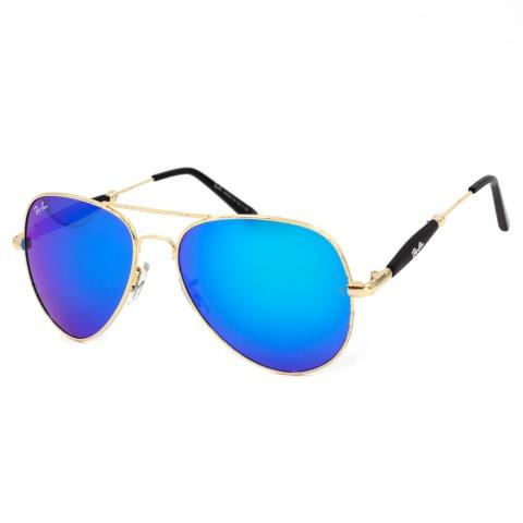 Солнцезащитные очки RB 3517 золото синее зеркало