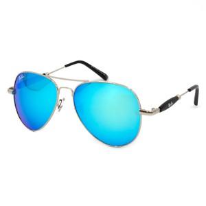 Солнцезащитные очки RB 3517 серебро бирюза зеркало