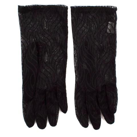 Перчатки женские Гипюр черные 10 шт