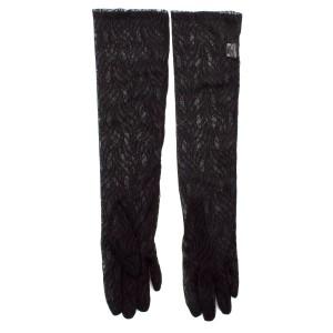 Перчатки женские 856-45 гипюр черный