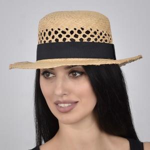 Шляпа канотье МЕРЕЖКА натуральный