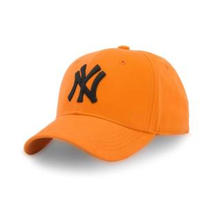 Бейсболка Cotton NY без окантовки р.57-58 оранжевый/черный