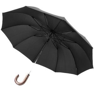 Зонт складной полуавтомат Zest 42660 ,черный,2 сл.,10 сп.,упак.12 шт.