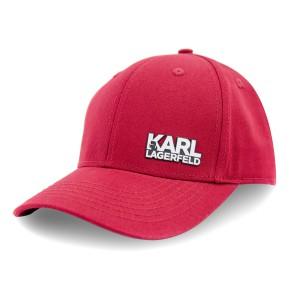 Бейсболка SR22 KARL LAGERFELD резина надпись слева коттон форма бордо