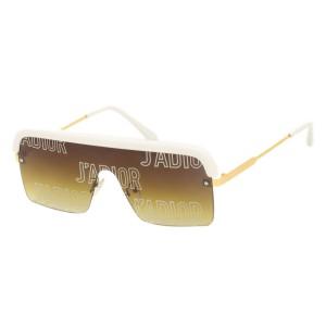 Солнцезащитные очки Dior 1853 C5 белый коричневый градиент принт