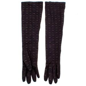 Перчатки женские 854-45 хлопок черный