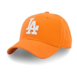 Бейсболка Cotton LA р.57-58 оранжевый/белый
