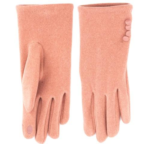 Перчатки ПУГОВКИ меланж бамбук утепленные розовый M 10 шт