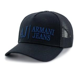 Бейсболка тракер SR22 ARMANI JEANS сетка черный
