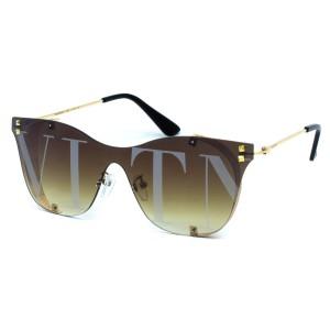 Солнцезащитные очки Valentino 5093 C3 золото кор. траф.