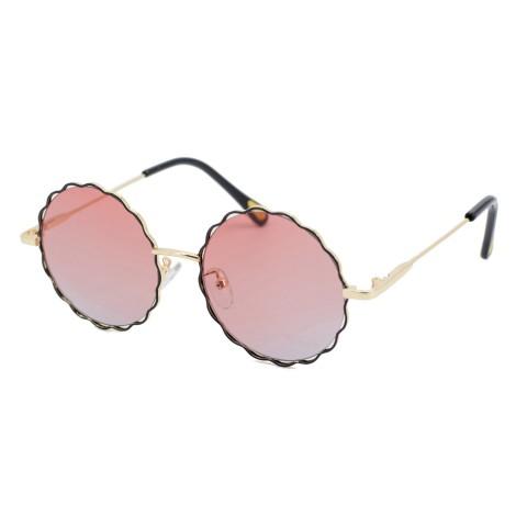 С.з очки SumWin 582 C3 золото темно-бордовый