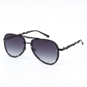 Солнцезащитные очки SumWin 15-1 капля C1 черный мет. черн. град