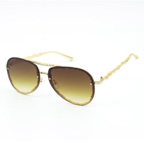 Солнцезащитные очки SumWin 15-1 капля C2 золото мет. корич. гра