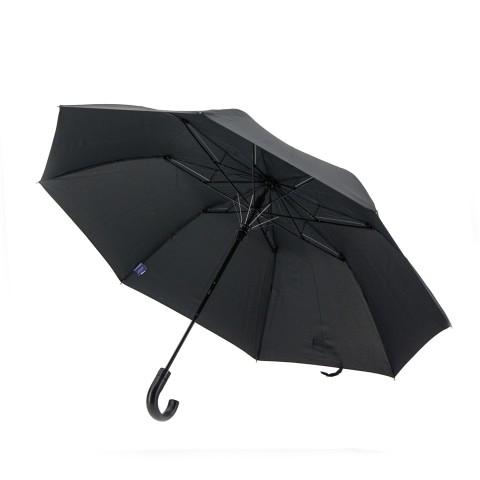Зонт складной полуавтомат Zest 42620 ,черный,2 сл.,8 сп.,упак.12 шт.