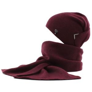 Шапка и шарф Комплект ODYSSEY Элизабет S1/люрекс LX 602 бордо